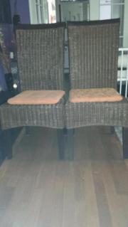 2 Bambus Stühle