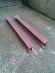 2 Stahlträger zu