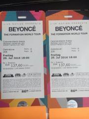 2x Beyonce Konzert