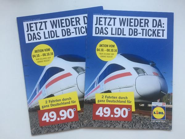Spartickets Deutsche Bahn Lidl
