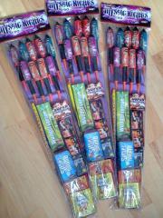 3x Feuerwerksortiment Feuerwerk