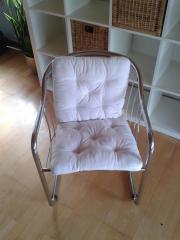 4 Stühle verschromt,