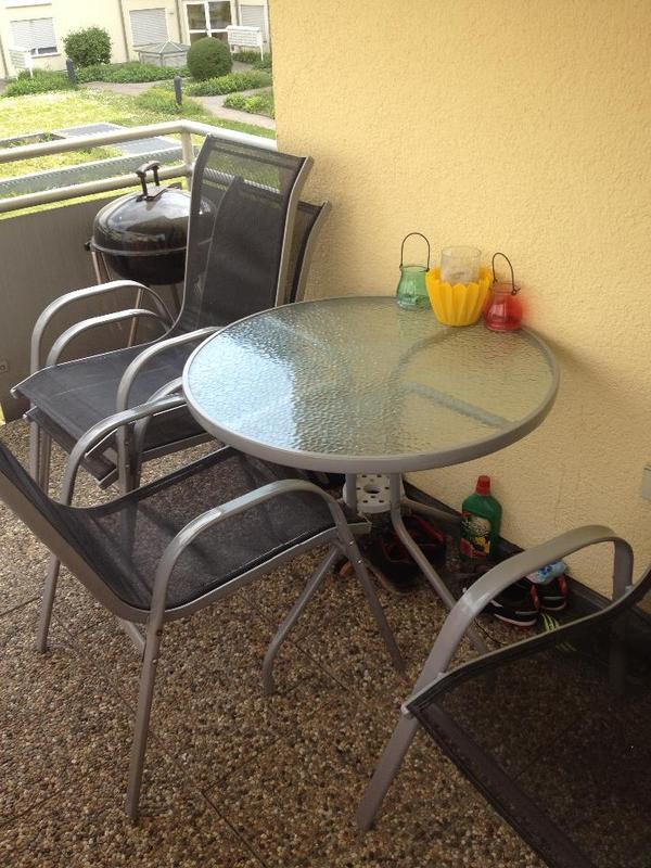 5 teiliges balkonm belset in bad friedrichshall gartenm bel kaufen und verkaufen ber private. Black Bedroom Furniture Sets. Home Design Ideas