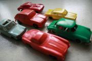 6 Antike Modellautos