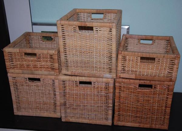 6 ikea bran s rattan box f r expedit regal kasten aufbewahrungsbox in heidelberg ikea m bel. Black Bedroom Furniture Sets. Home Design Ideas