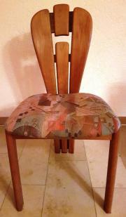 6 Stühle Naturholz