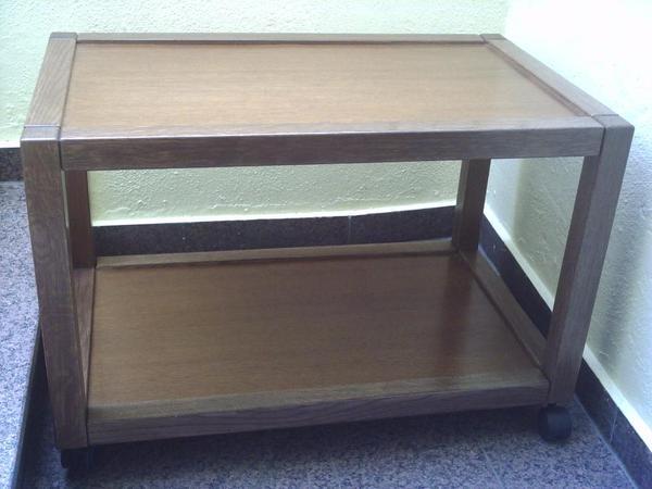 ablagewagen beistellwagen ablagetisch beistelltisch tv tisch fernsehtisch eiche rustikal. Black Bedroom Furniture Sets. Home Design Ideas