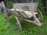 Alter Bauernwagen Deko