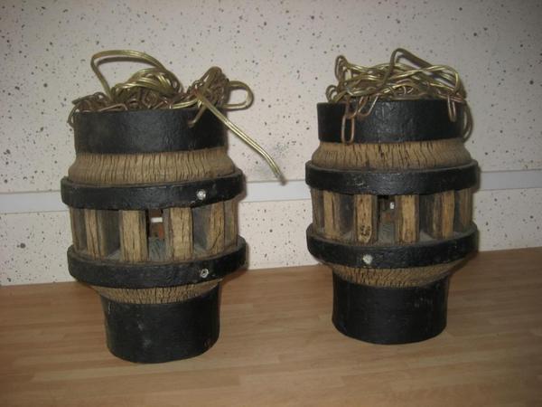 Antik 2 lampen aus radnaben von einem alten pferdewagen for Lampen antik