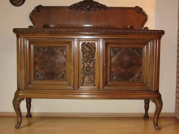 antiker wohnzimmerschrank ca 1920 mit edlen schnitzereien 245 cm breit 200 cm hoch dazu. Black Bedroom Furniture Sets. Home Design Ideas