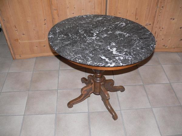 Granit tisch rund kaufen gebraucht und g nstig for Marmor tischplatte rund