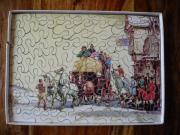 Antikes Postkutschen Puzzle