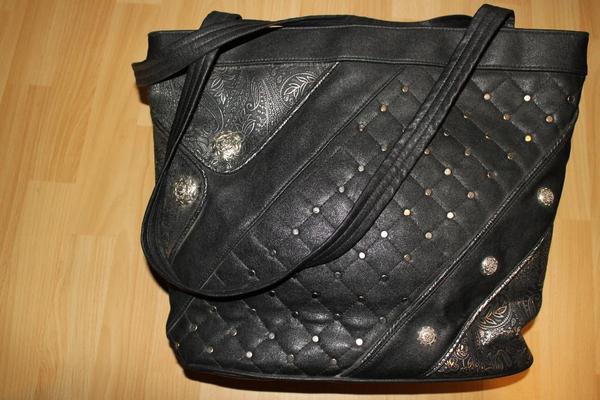 ausgefallene damen shopper tasche schwarz in lingenfeld taschen koffer accessoires kaufen. Black Bedroom Furniture Sets. Home Design Ideas