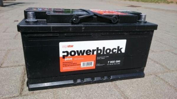 auto batterie powerblock in n rnberg batterien kaufen und verkaufen ber private kleinanzeigen. Black Bedroom Furniture Sets. Home Design Ideas