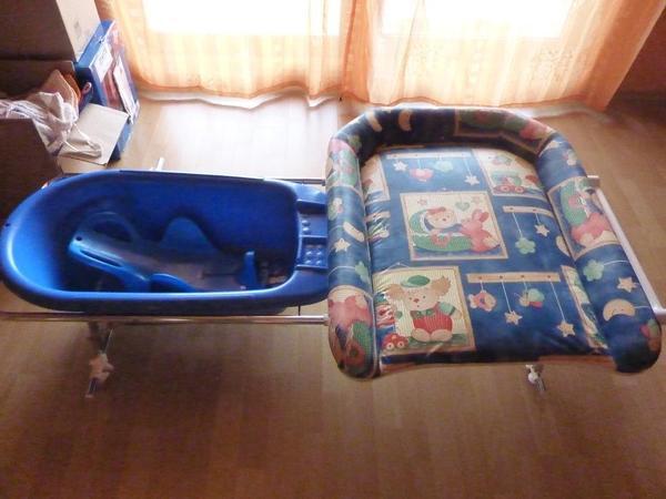 baby bade wickelkombination wie neu mit zubeh r in. Black Bedroom Furniture Sets. Home Design Ideas