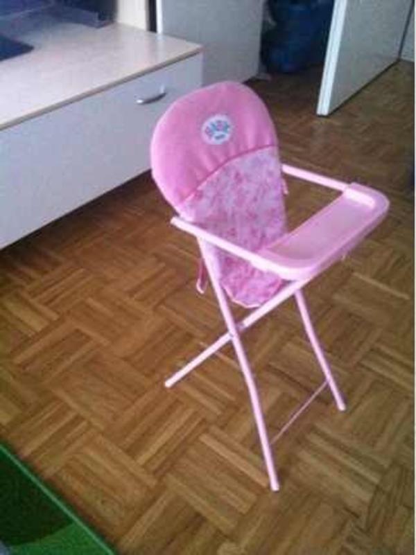 baby born hochstuhl in m nchen puppen kaufen und verkaufen ber private kleinanzeigen. Black Bedroom Furniture Sets. Home Design Ideas