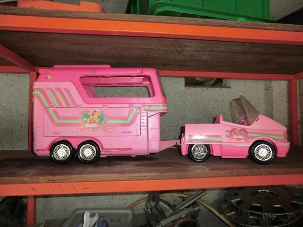 barbie pferdeanh nger mit auto. Black Bedroom Furniture Sets. Home Design Ideas