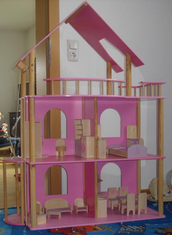barbie puppenhaus barbiehaus aus holz 1 20m hoch in lustenau alles m gliche kaufen und. Black Bedroom Furniture Sets. Home Design Ideas