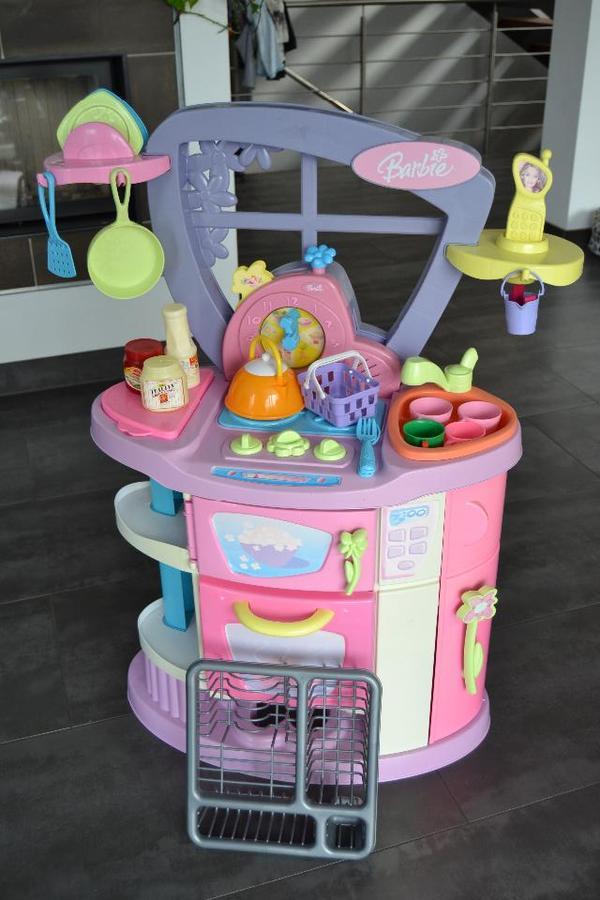 Tolle sprechende barbie kuche spielkuche in sehr gutem for Spielküche zubeh r