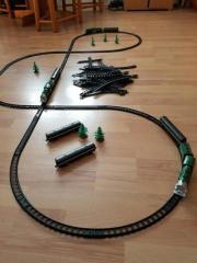 Batterie Eisenbahnanlage