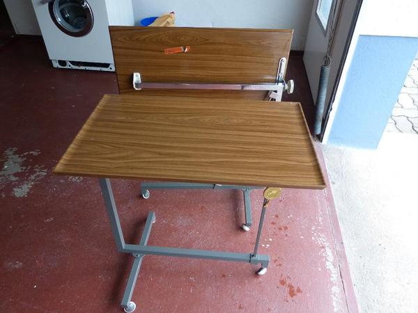 beistellwagen beistelltisch krankentisch pflegetisch krankenbett tisch laptoptisch in gelnhausen. Black Bedroom Furniture Sets. Home Design Ideas