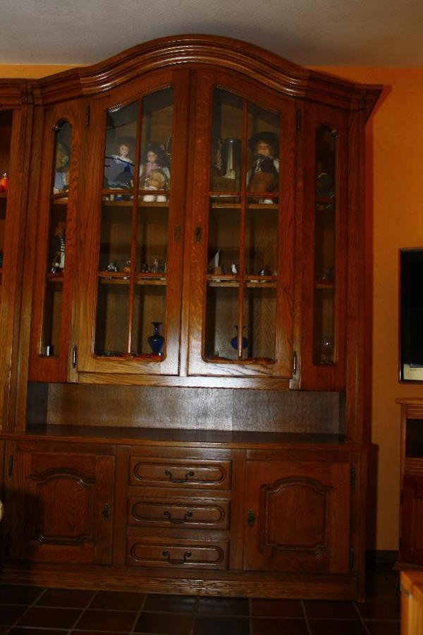 belgische massive eichenvitrine mit glast ren und. Black Bedroom Furniture Sets. Home Design Ideas