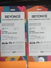 Beyonce Konzert Sitzplätze