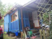 Blaues Haus Campingbauwagen