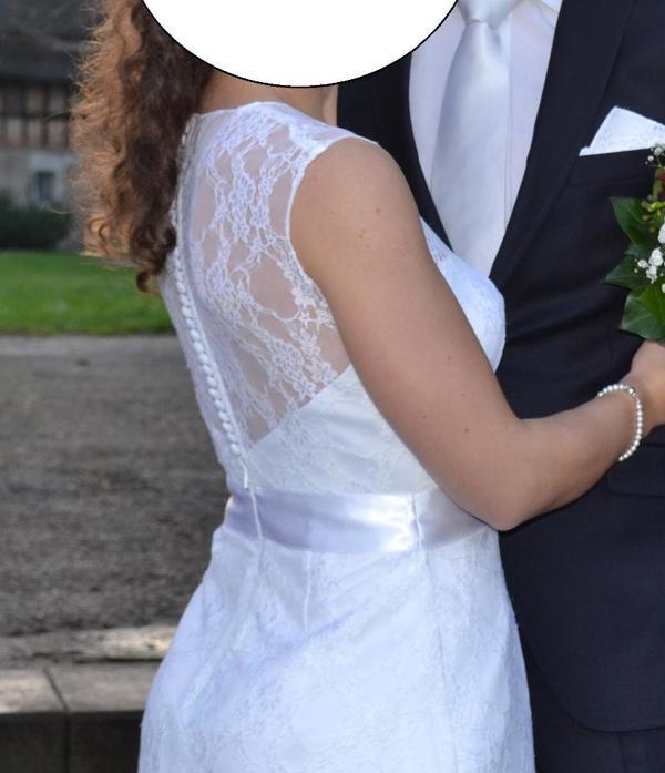 Brautkleid , Standesamtkleid, Kleid, weiß