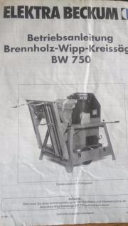 Brennholz- Wipp-Kreissäge