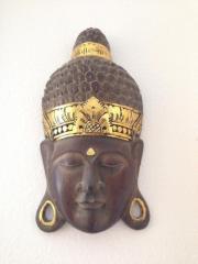 Buddhamaske aus Holz