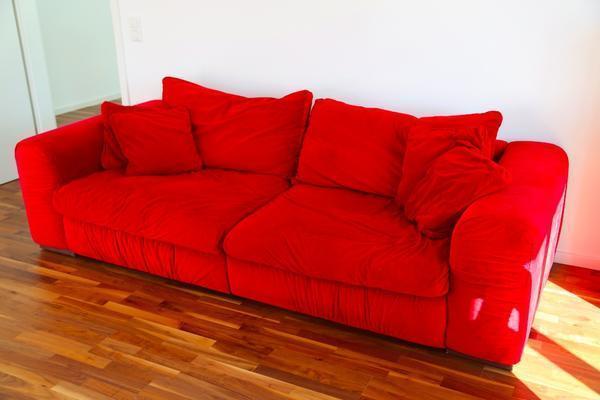 Couch megasofa wohnlandschaft rot von segm ller in for Wohnlandschaft quoka