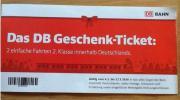 DB Geschenkticket Deutsche