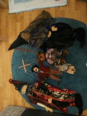 diverse Puppen