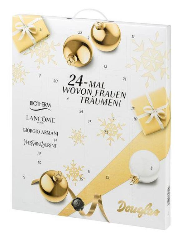 douglas adventskalender 2016 24 mal wovon frauen tr umen in m nchen kosmetik und sch nheit. Black Bedroom Furniture Sets. Home Design Ideas