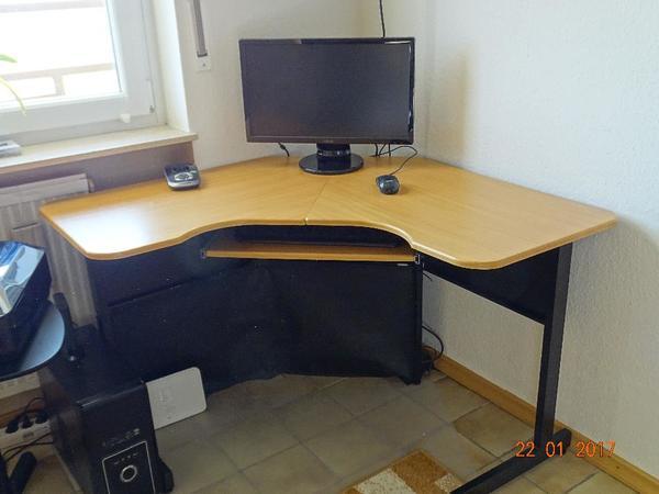 eckschreibtisch buche gebraucht kaufen nur 2 st bis 70 g nstiger. Black Bedroom Furniture Sets. Home Design Ideas