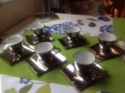 Espresso Set silber, 12 tlg. Espresso Set, silberfarben, 12 tlg., also 6 Tassen und 6 Untertassen, neu und ungebraucht aufgrund Kaffeeunverträglichkeit abzugeben. Im ... 15,- D-45525Hattingen Innenstadt Heute, 14:56 Uhr, Hattingen Innenstadt - Espresso Set silber, 12 tlg. Espresso Set, silberfarben, 12 tlg., also 6 Tassen und 6 Untertassen, neu und ungebraucht aufgrund Kaffeeunverträglichkeit abzugeben. Im