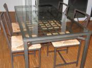 Esszimmer Glastisch zu