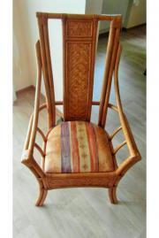 Esszimmerstühle aus Rattan