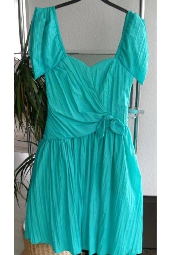 Schönes festliches kleid in türkis grün gr 36 mit