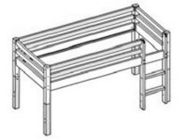 flexa etagen hochbett thuka sonny mit gerader leiter. Black Bedroom Furniture Sets. Home Design Ideas