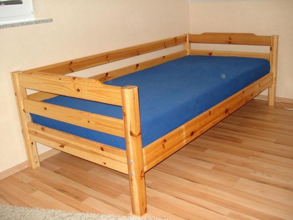 flexa holzbett kinderbett jugendbett kiefer massiv 90x200 in walldorf betten kaufen und. Black Bedroom Furniture Sets. Home Design Ideas