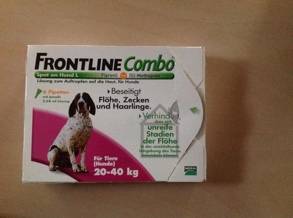 frontline combo 3 pipetten f r hunde von 20 40kg in. Black Bedroom Furniture Sets. Home Design Ideas