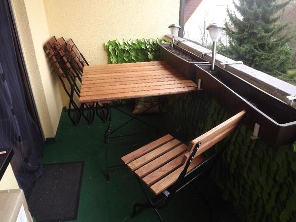 garten balkontisch klappbar und 4 st hle klappbar in. Black Bedroom Furniture Sets. Home Design Ideas