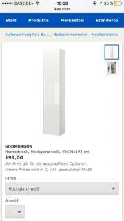 ikea badezimmerschrank kaufen gebraucht und g nstig. Black Bedroom Furniture Sets. Home Design Ideas