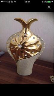 Goldige Deko Vase