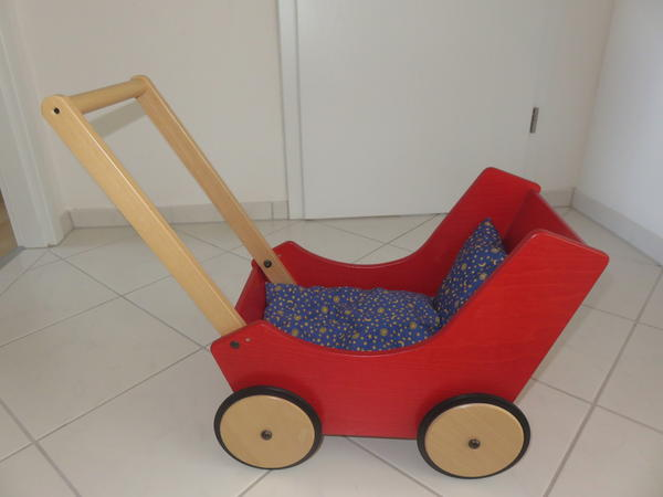 Puppenwagen Holz Lauflernwagen Gebraucht ~ Hier bieten wir einen schoenen Puppenwagen von Haba in der Sonderfarbe