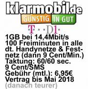 Handyvertrag Klarmobil D1