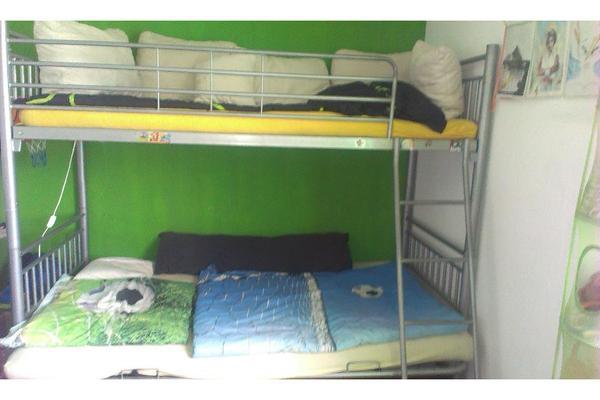 hochbett sofa aus metall silberfarben beschichtet in. Black Bedroom Furniture Sets. Home Design Ideas