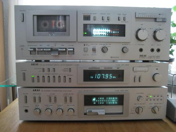 hochwertige akai stereoanlage aus anfang der 80er jahre in. Black Bedroom Furniture Sets. Home Design Ideas